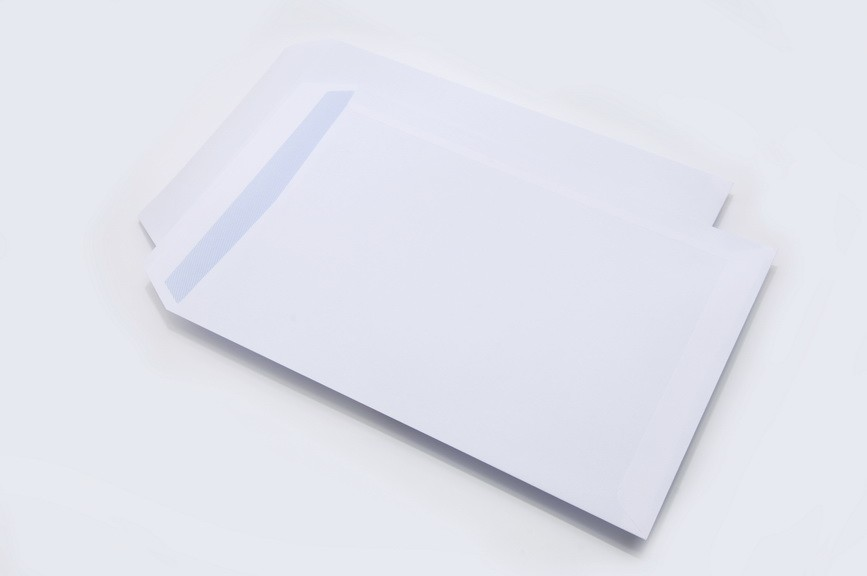 Non Windowed White C4 Self Seal Pocket Envelopes 90gm2 / 90gsm ...