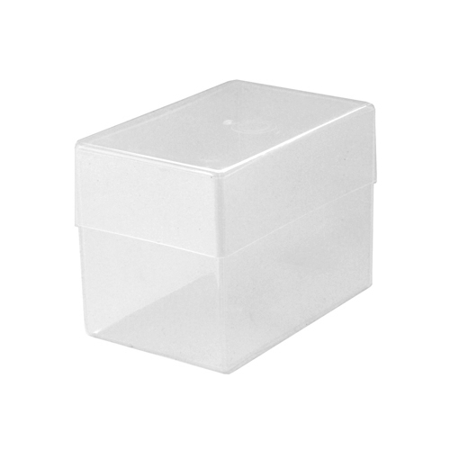 Plastic business card box 250 cards clear transparent colourmoves